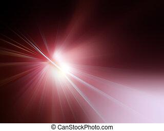 vermelho, raios luz