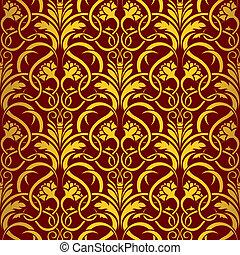vermelho, seamless, padrão papel parede