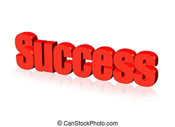 vermelho, sucesso, palavra