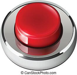 vermelho, teia, botão