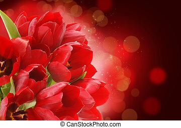 vermelho, tulips