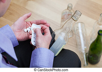 vermengende medicijnen, met, alcohol