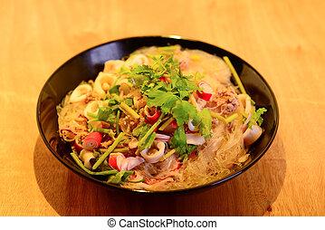 vermicelli salad,Thailand food noodle salad
