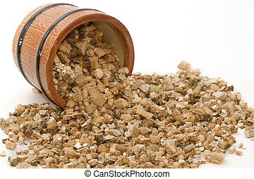 vermiculite, gebruikt, in, potting, planten