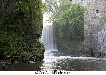 Vermillion Falls in Hastings - Vermillion Falls and River in...