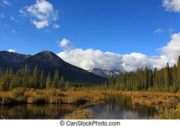 vermillion lakes in banff national park alberta
