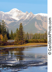 Vermillion Lakes in Banff - Vermillion Lakes in front of...