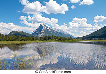 Vermillion Lakes Wide - View on beautiful Vermillion Lakes...
