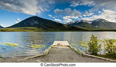 vermillion, tó, banff