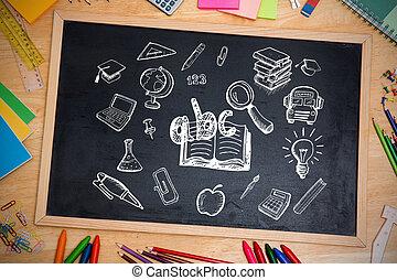 vermischt bild, von, bildung, doodles