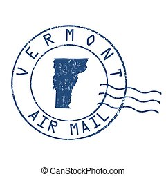 Vermont post office, air mail stamp