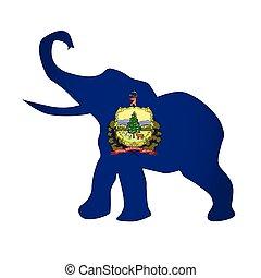 Vermont Republican Elephant Flag