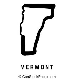 Vermont simple logo. State map outline - smooth simplified ...