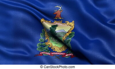 Vermont state flag seamless loop