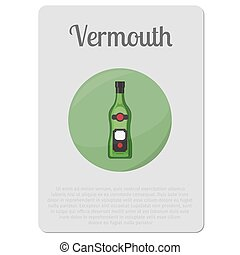 Vermouth alcohol sticker with bottle - Vermouth alcohol....
