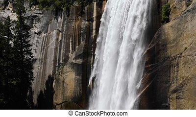 Vernal Falls of Yosemite Plunge Loop - Seamlessly looping...