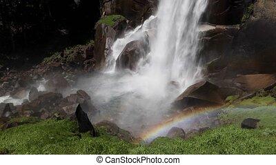 Vernal Falls Rainbow Loop - Seamlessly looping footage...