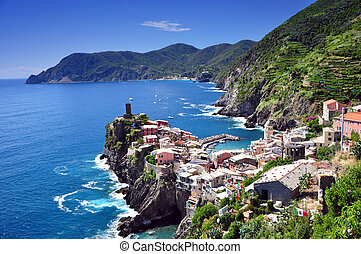 vernazza, cinque terre, イタリア