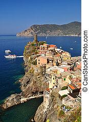 Vernazza, Cinque Terre - Village of Vernazza, in Cinque...
