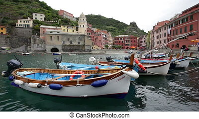 Vernazza in Cinque Terre, Italy - Cinque Terre is one of the...