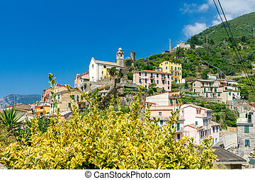 Vernazza. The old village with colorful houses.