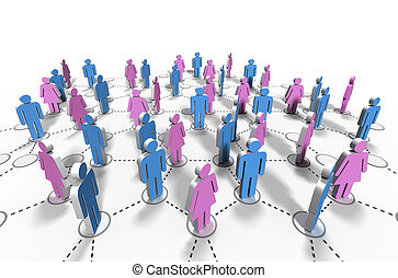 vernetzung, beziehung, gemeinschaft, -