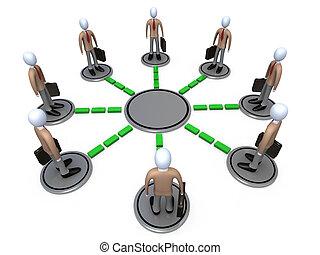 vernetzung, geschaeftswelt