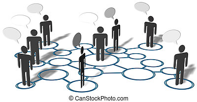 vernetzung, leute, medien, anschlüsse, sozial, talk