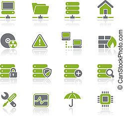 vernetzung, natura, &, hosting, /, server
