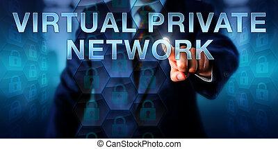vernetzung, privat, berühren, virtuell, unternehmen, ...