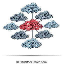 vernetzung, wolke