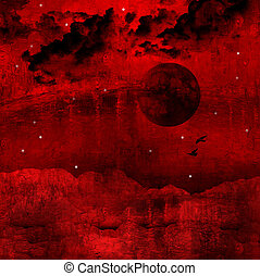 vernice, astratto, rosso