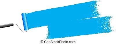 vernice blu, fondo