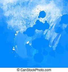 vernice blu, grunge, fondo, splatter