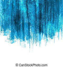 vernice blu, schizzi, fondo