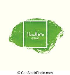 vernice, colpo, verde, spazzola, fondo, macchia