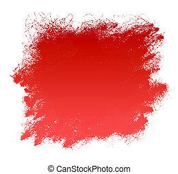 vernice, grunge, sfondo rosso, striscio
