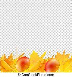 vernice, mango, fondo, frontiera arancia, trasparente