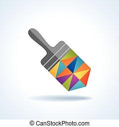 vernice, moderno, spazzola, creativo