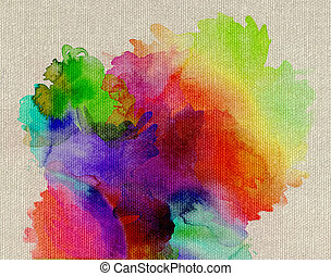 vernici, tela, rainbow-colored