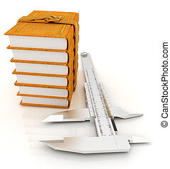 Vernier caliper and leather professional books. Best...