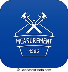 Vernier caliper icon blue vector