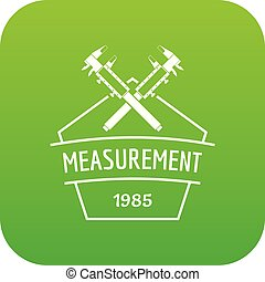 Vernier caliper icon green vector