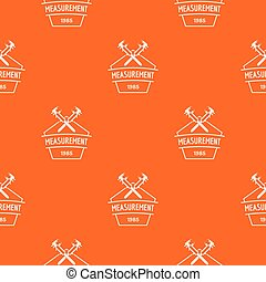 Vernier caliper pattern vector orange
