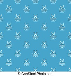 Vernier caliper pattern vector seamless blue