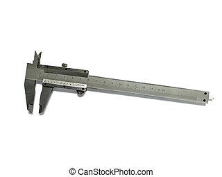 Vernier caliper (slide gauge) isolated on white background...