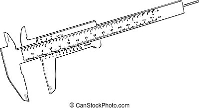 Vernier caliper - Tool to measure distance with high...