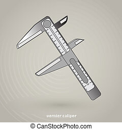 Vernier Caliper Vector Icon