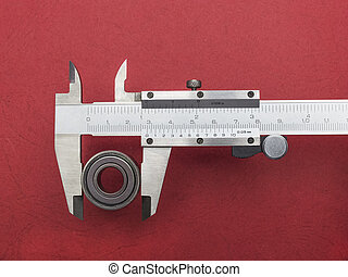 Vernier caliper with bearing