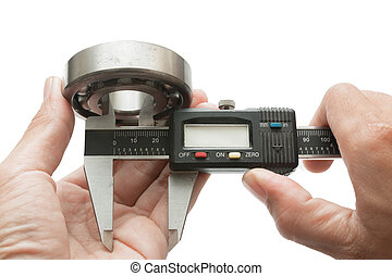 Vernier with bearing